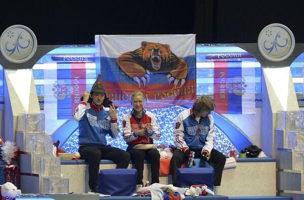 Максим Ковтун, Татьяна Волосожар и Константин Меньшов (слева направо)