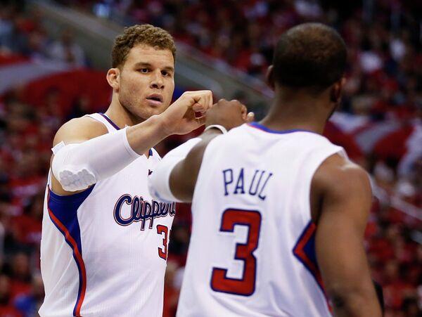 Баскетболисты Лос-Анджелес Клипперс Блейк Гриффин и Крис Пол