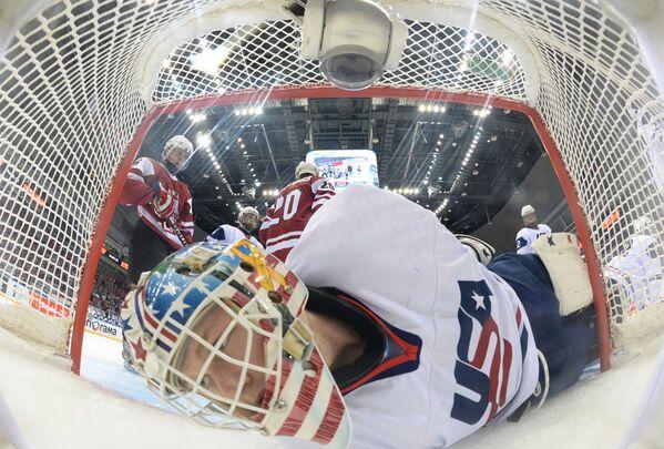 Хоккей. Юниорский ЧМ. Матч Латвия - США