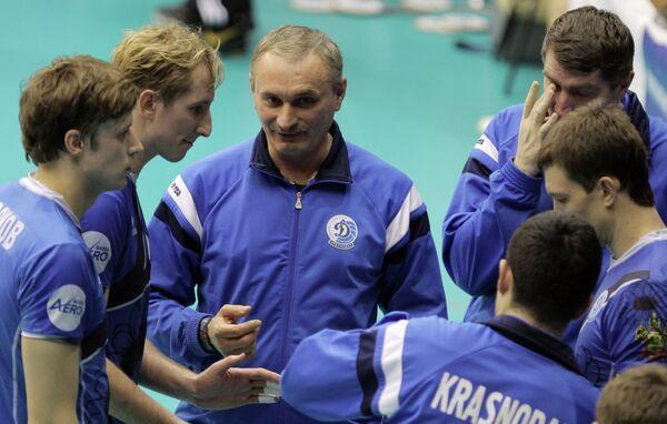 Главный тренер ВК Динамо (Краснодар) и игроки команды