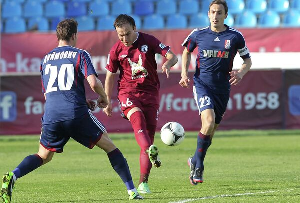 Игрово ймомент матча Рубин - Мордовия
