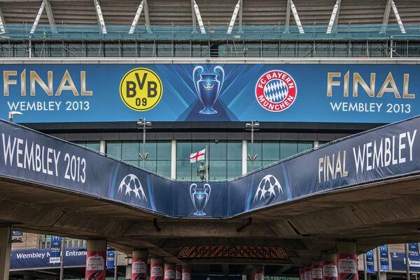 Реклама финала Лиги чемпионов УЕФА 2012/13 между ФК Бавария и ФК Боруссия