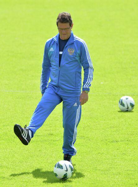 Фабио Капелло на тренировке сборной России