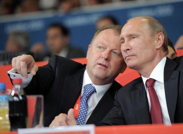 Владимир Путин и Мариус Визер (справа налево)