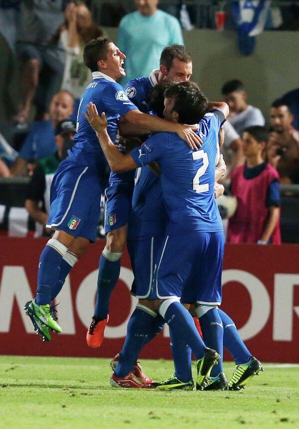 Футболисты молодежной сборной Италии