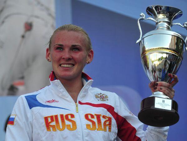 Российская пятиборка Людмила Кукушина на Кубке Кремля