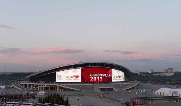 Вид стадиона Казань Арена во время церемонии открытия XXVII Всемирной летней Универсиады 2013 в Казани