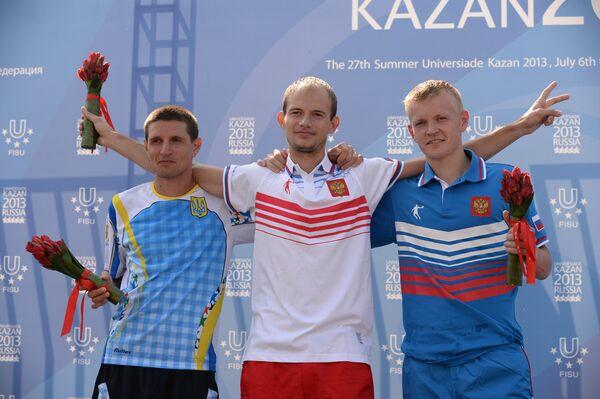 Руслан Дмитренко, Андрей Кривов, Стрелков Денис (слева направо)