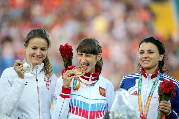 Анна Ягацяк, Екатерина Конева и Кармен Кристина Тома (слева направо)