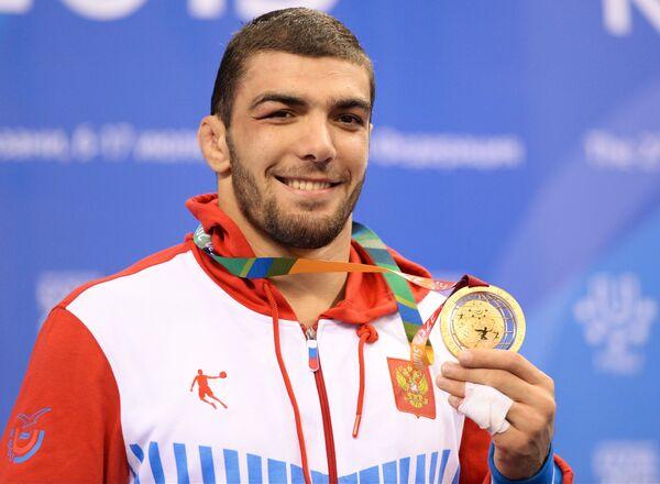 Абдусалам Гадисов (Россия), завоевавший золотую медаль мужского турнира по вольной борьбе
