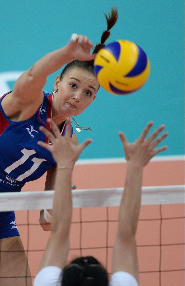 Игрок сборной России Виктория Чаплина