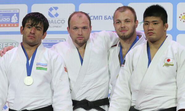 Эркин Дониуров, Григорий Сулемин, Александр Юречка и Хиротака Като (слева направо)