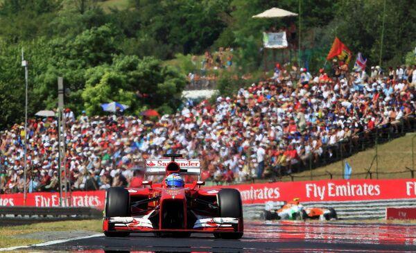 Фернандо Алонсо во время Гран-при Венгрии