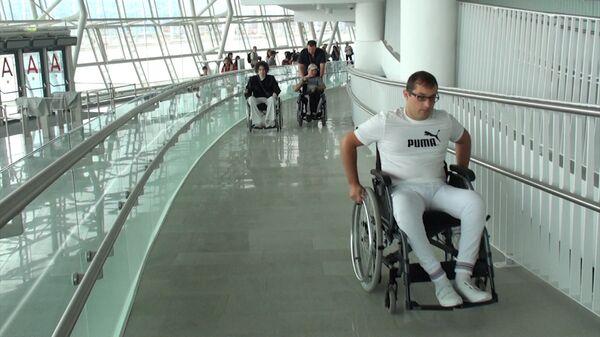 Инвалиды-колясочники оценили спецавтобусы и трибуны Большого в Сочи