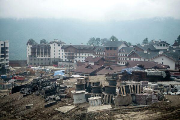 Строительство олимпийских объектов в Горном кластере
