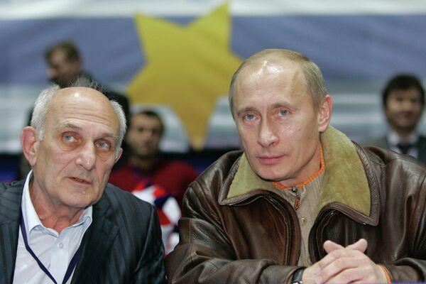 Владимир Путин и Анатолий Рахлин (справа налево)