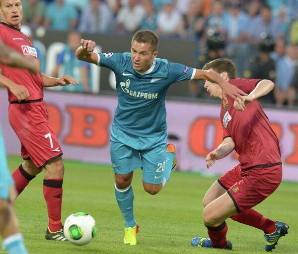 Игровой момент матча Зенит - Нордшелланда