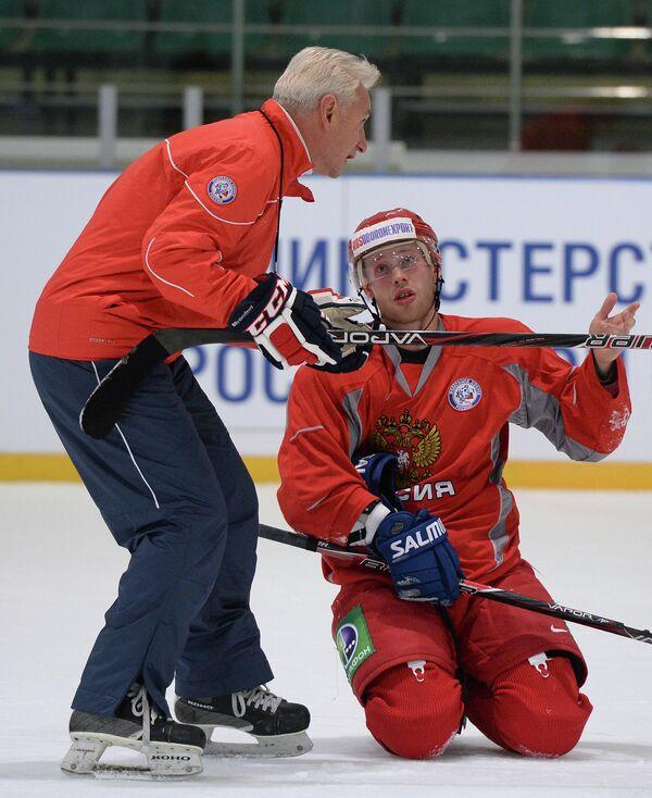 Хоккей. Тренировка мужской сборной России