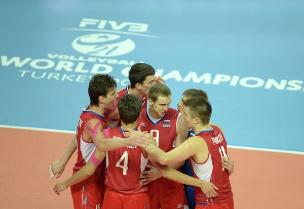 Волейболисты молодежной сборной России