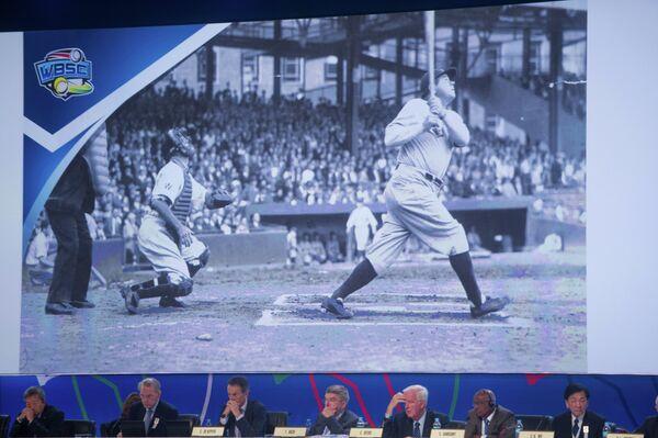Члены Международного олимпийского комитета во время презентации бейсбола как кандидата на включение в программу Олимпийских игр