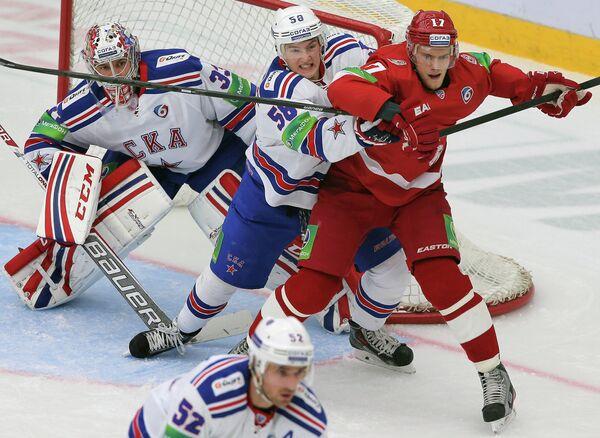 Игровой момент матча Витязь - СКА