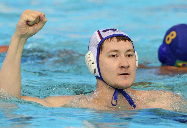 Игрок сборной России по водному поло Адель Латыпов