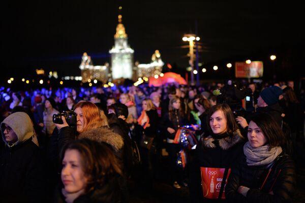 Эстафета Олимпийского огня. Москва. День 1