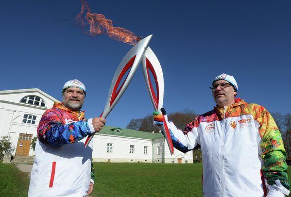 Эстафета Олимпийского огня. Тульская область