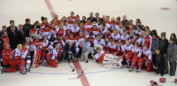 Хоккей. Женщины. Товарищеский матч сборных России и Канады