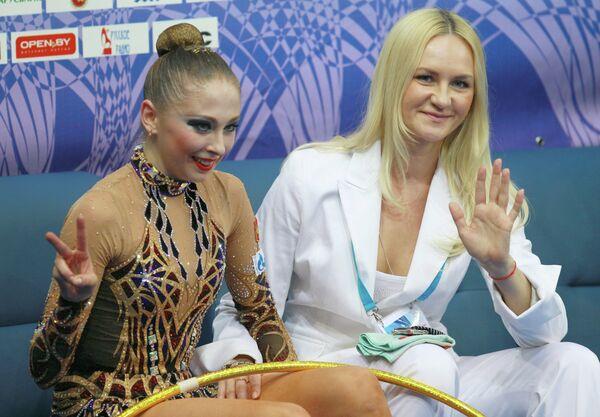 Дарья Кондакова с тренером Анной Шумиловой