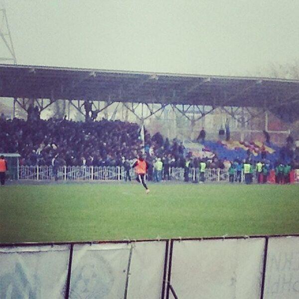 Беспорядки во время матча Ангушт - Алания