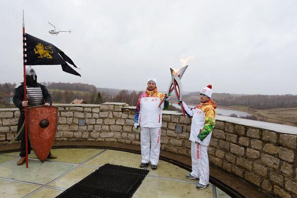 Эстафета Олимпийского огня. Псковская область