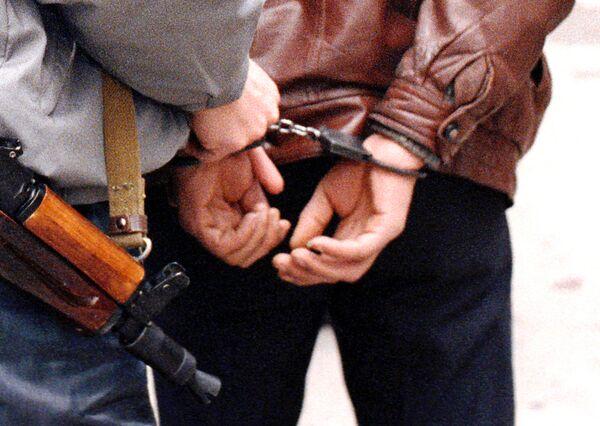 Задержанный отрядом специального назначения УВД