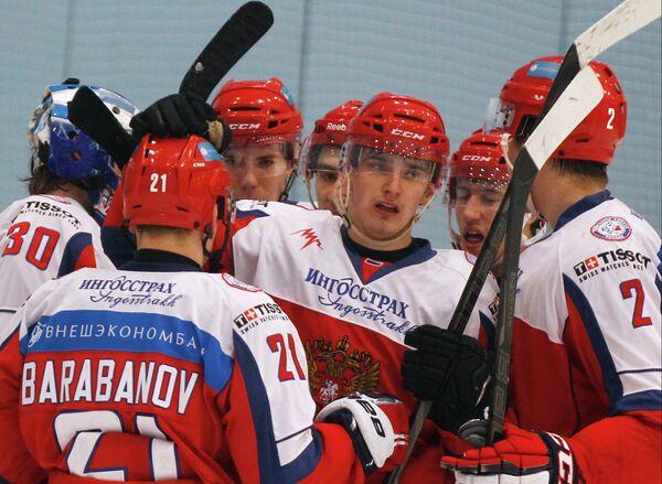 Хоккей. Матч молодежных сборных России и Финляндии
