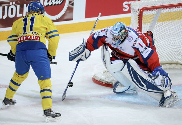 Симон Яльмарссон (слева) и Александр Еременко