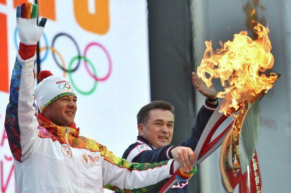 Владимир Миклушевский и бронзовый призер Олимпиады в Лондоне Иван Штыль