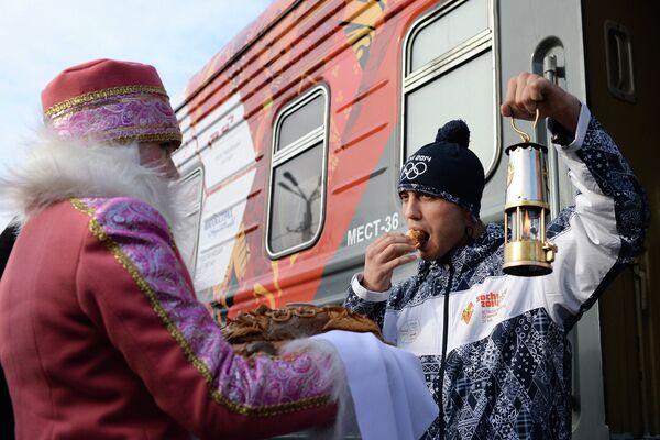 Эстафета Олимпийского огня. Благовещенск