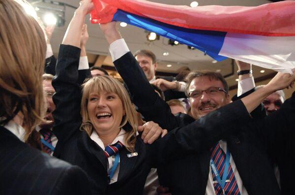 В России впервые пройдут зимние Олимпийские игры. На сессии Международного олимпийского комитета (МОК) в Гватемале Сочи выиграл право провести Олимпиаду — 2014