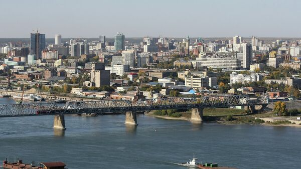 Вид на правый берег Новосибирска