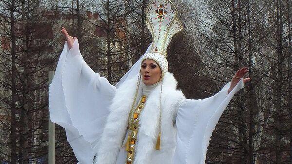 Театральное шоу на стадионе Барнаула прошло в честь эстафета огня ОИ