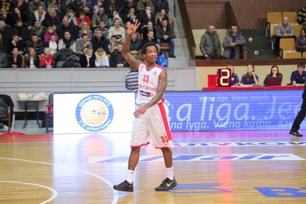 Защитник волгоградского баскетбольного клуба Красный Октябрь Рэнди Калпеппер