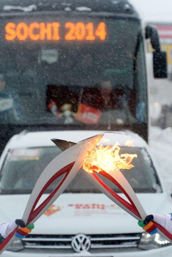 Эстафета Олимпийского огня. Оренбург