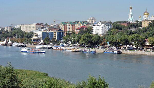 Вид на Ростов-на-Дону с левого берега реки Дон