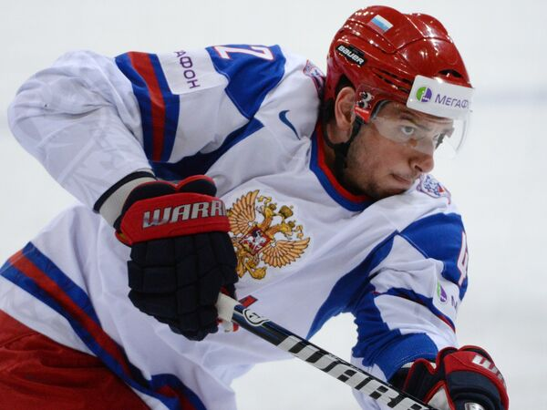 Нападающий сборной России Артем Анисимов