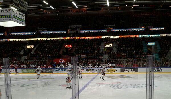Вид на арену Heelsingin jäähalli
