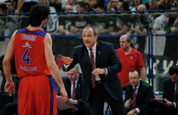 Милош Теодосич (слева) и Этторе Мессина
