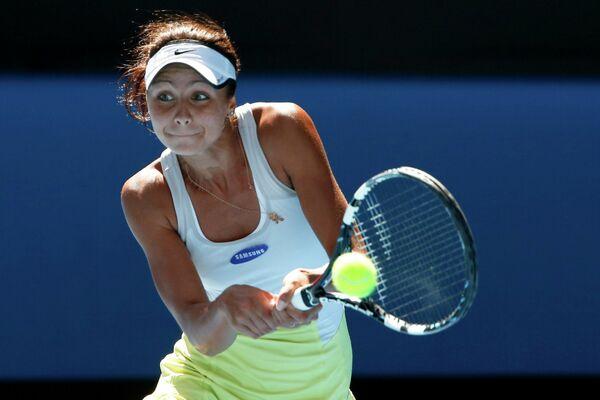 Российская теннисистка Елизавета Куличкова в финальном матче юниорского Australian Open