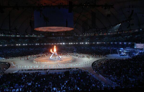 Церемония зажжения олимпийского огня в канадском Ванкувере