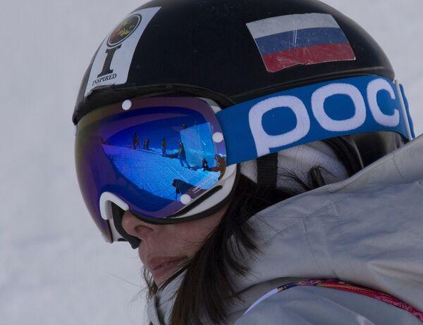 Анна Миртова (Россия) на тренировке национальных сборных по фристайлу