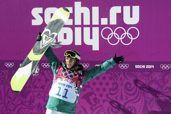 Олимпиада 2014. Сноуборд. Тора Брайт . Слоупстайл. Квалификация